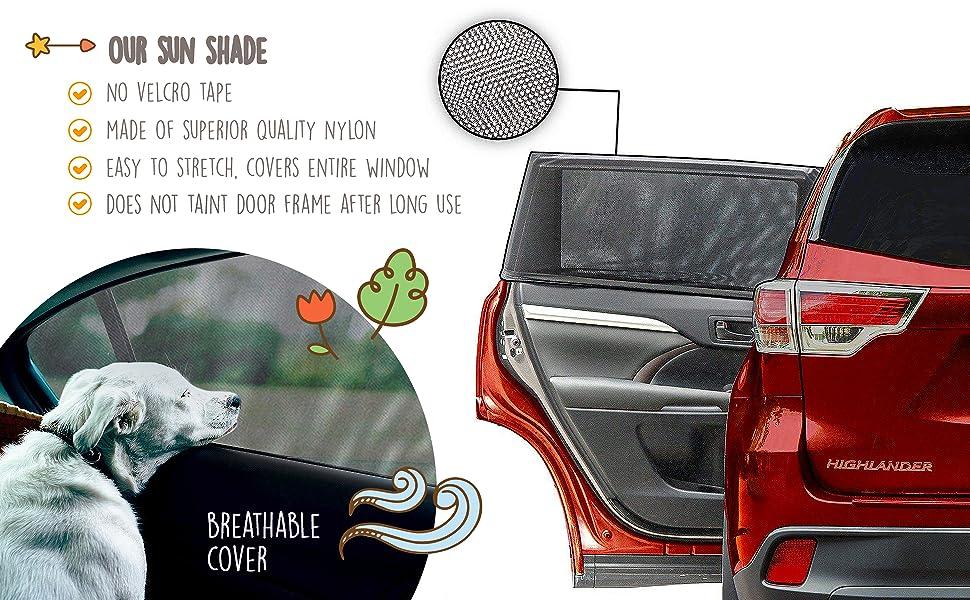 ELLYBABABABY Car Window Shades - Blocks UV Rays