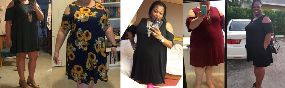 women plus size dresses short sleeve casual