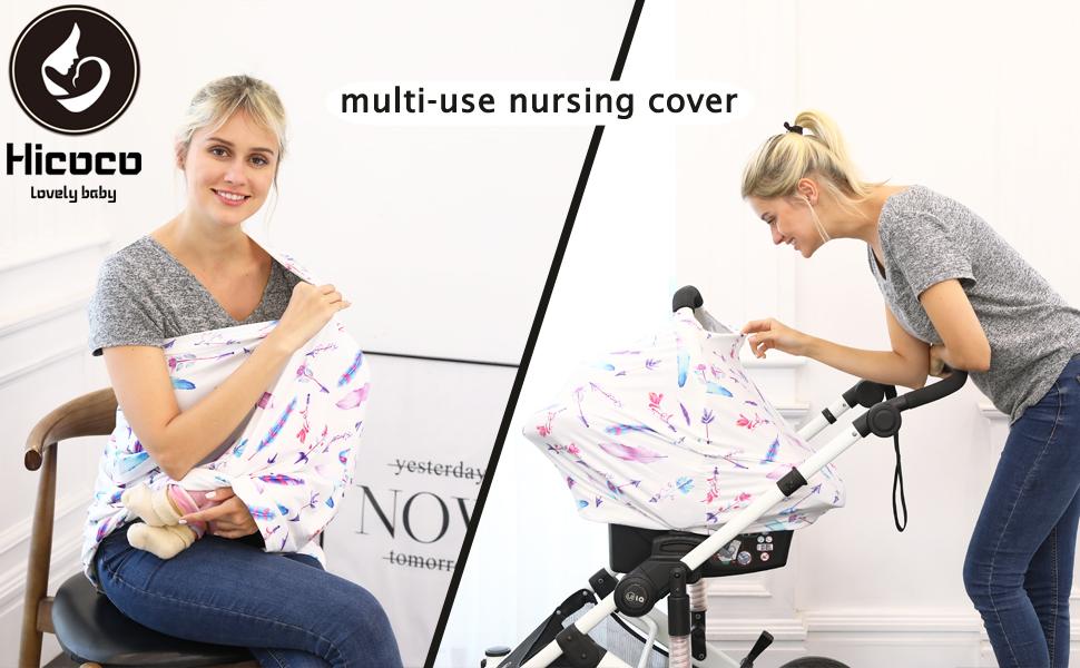 pinl feather multi-use nursing cover