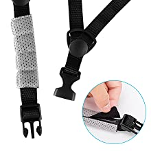 Comfortable and quick chin pad and safety buckle