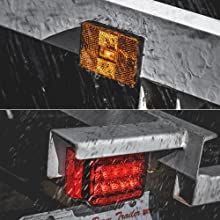 "LED Trailer Light Kit For Trailers Under/Over 80"" Wide waterproofing on trailer."