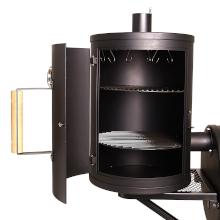 taino yuma 90 kg smoker holz-kohle-grill lokomotive grillen smoken räuchern schwarz erweiterung