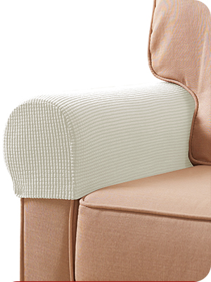 Amazon Com Subrtex Stretch Armrest Covers Spandex Anti Slip Arm Covers For Chairs Sofa Armchair Slipcovers For Recliner Sofa With Twist Pins Off White