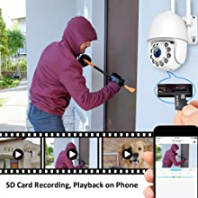 sd card, sd card recording, playback, home security camera, remote home security system