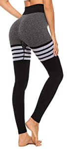 striped seamless leggings