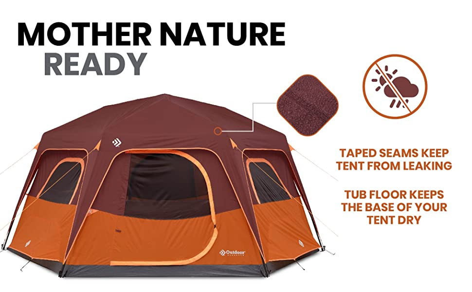 weather proof water proof tent ventilated wind proof rainfly outdoor waterproof family large tall