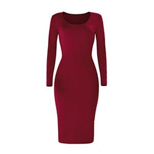 wine red bodycon dress