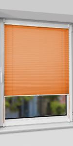 Faltrollo Klemmrollo Sicht-und Sonnenschutz Rollos f/ür Fenster /& T/ür HOMEDEMO Plissee Klemmfix ohne Bohren Jalousien Beige, 50x100cm Plisseerollo Fensterrollo mit Klemmtr/äger
