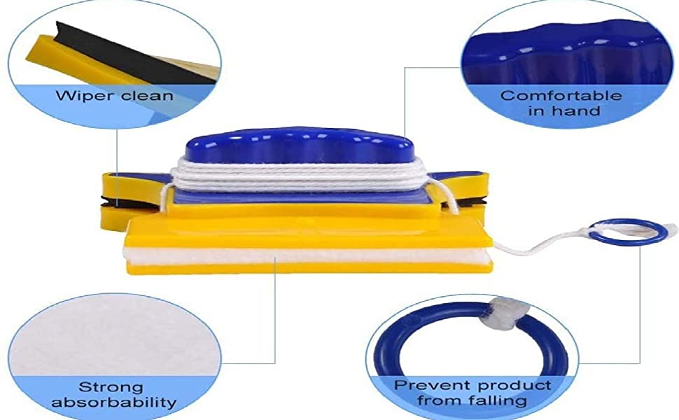 Magnetic window glass cleaner