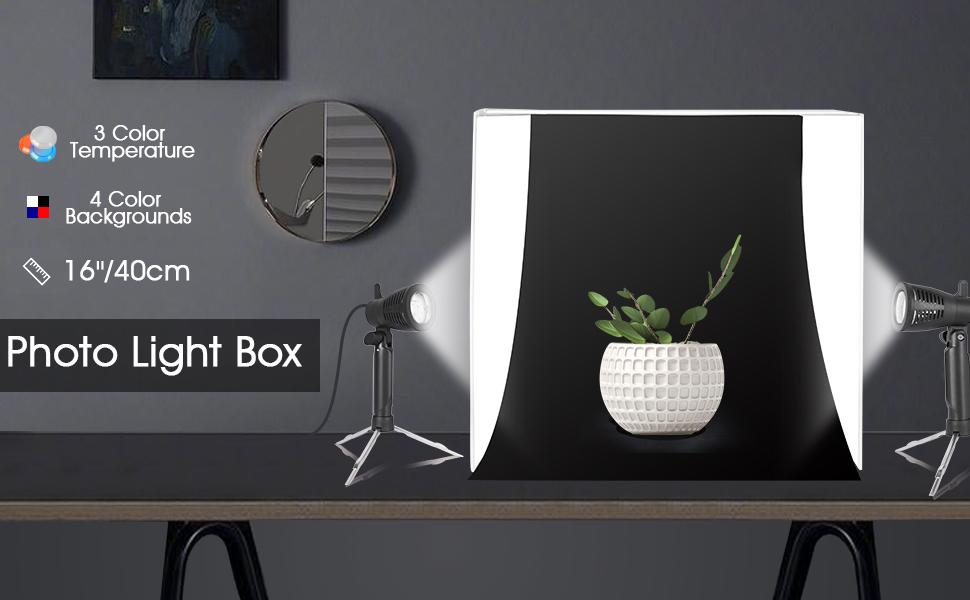 interior design light box studio setup