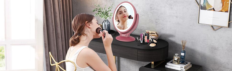 Vergrößerung Kosmetikspiegel