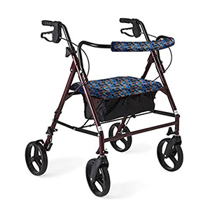 Rollator Walker Seat and Backrest Rollbar Covers