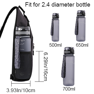 sling backpack with water bottle