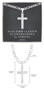 flat cross and figaro chain