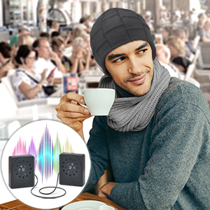 bluetooth beanie hat with microphone and speakers
