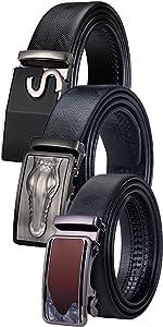 red buckle men belt ratchet leather belt removable buckle belt extra long jeans belt boys gift