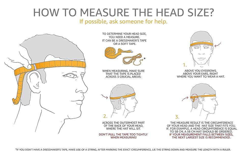 sterkowski hat cap headgear head measure size