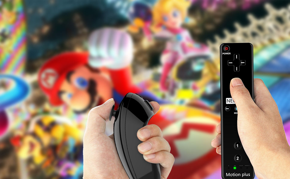 Wireless Wii U Motion Plus Remote Controller BLACK