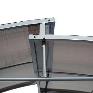 Angel Living Pabellón de Barbacoa de Aluminio y Acero con Techo de ...