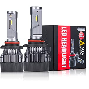 Trucks Alla Lighting Mini FL-BH 12500 Lumens Newest HB3 9005 LED Headlight Bulbs High Power 90W Xtreme Super Bright 6000K Xenon White DRL Lights Conversion Kits for Auto Cars
