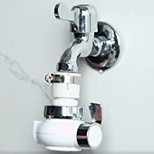 Attach the base system to your faucet