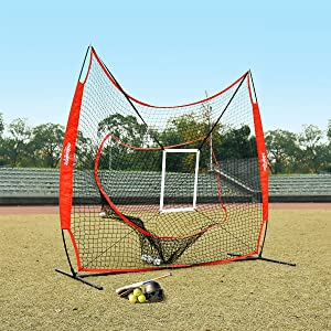 baseball net with tee