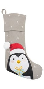 christmas holiday stocking decoration vintage morning tradition traditional penguin