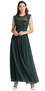 Women's Formal Lace Dress Floral Bridesmaid Dress Evening Wedding Party