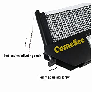 Precise Height and Tension Adjustment Ping Pong Net and Post