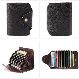 Full Leather Front Pocket Wallet RFID Blocking Bifold Multi Card Case