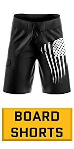 american flag boardshort swim trunks for Men and Boys