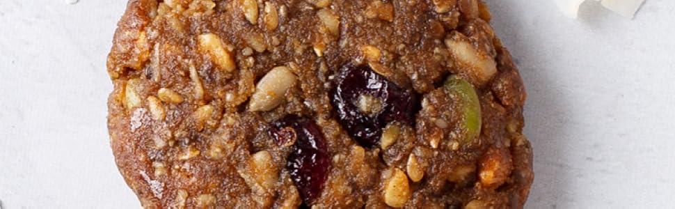 vegan granola bar, vegan breakfast bar, vegan snacks, vegan dessert, vegan cookies, diabetic cookie