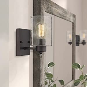 Wall Sconce One-Light Indoor Wall Light Fixture Oil Rubbed Bronze