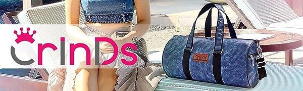 Crinds brand handbags gym travel duffel bags fashion for men and women