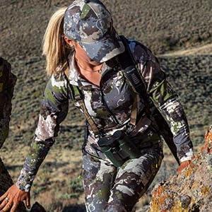 woman hunter in full camo