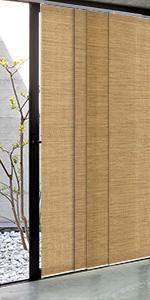 Godear design adjustable sliding panel pecan brown