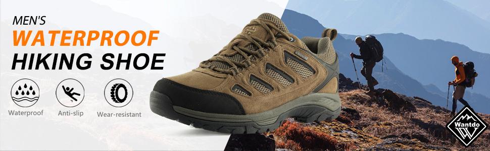 Wantdo Men's Waterproof Hiking shoes