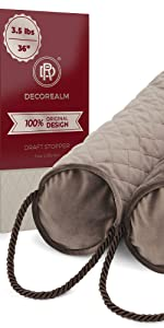 Brown Quilted Draft Stopper, Stylish Draft Stopper, Brown Door Wind Stopper, Heavy Draft Stopper