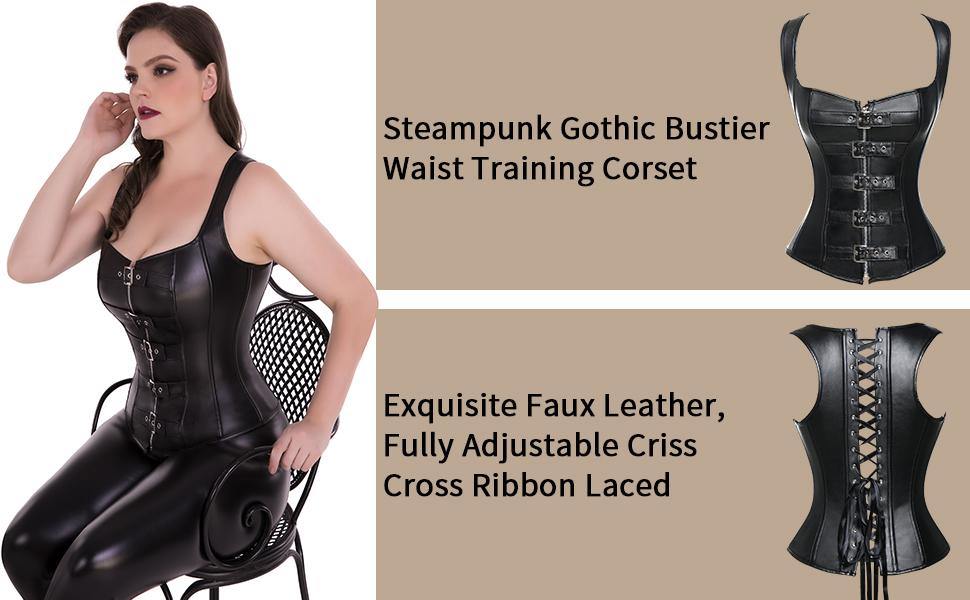 Steampunk Gothic Bustier Waist Cincher Vest