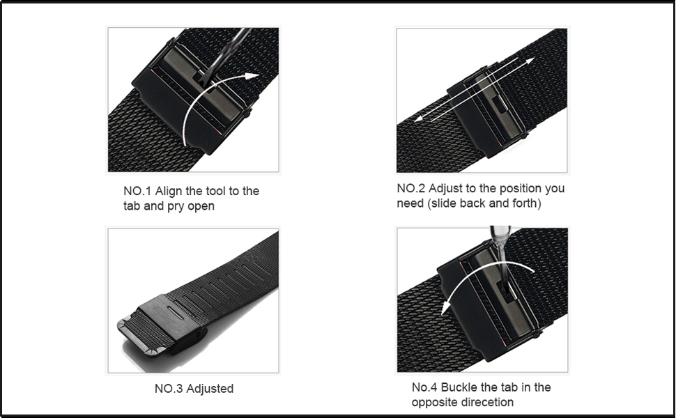 mesh watches how to adjust