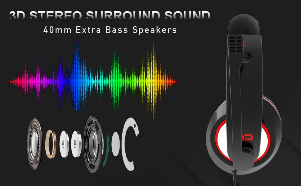 bp usb gaming headset headphone
