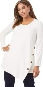 Side-Button Tunic