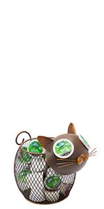Cat Coffee Pod Hoder, Organizer, Storage, cork holder, table decor