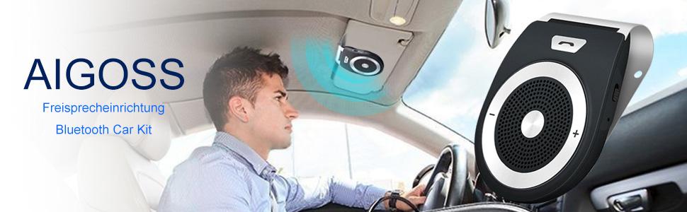 Aigoss Auto Freisprecheinrichtung Bluetooth