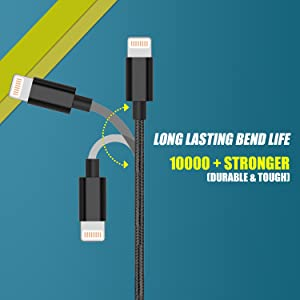 lightning cable durable, lightning cable, iPhone lightning cable