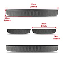 Size of Door Entry Guards for Jeep Wrangler JL