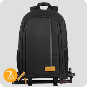 laptop camera backpack with tripod holder belt