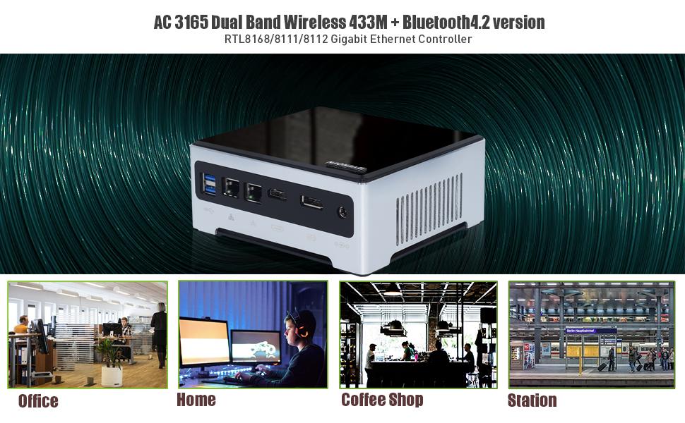 Dual Lan Wifi Bluetooth Mini Computer