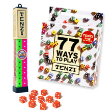 77 Ways TENZI children's party game add-on for TENZI Party Pack dice game