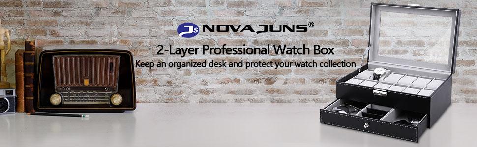 2 layer professional watch box